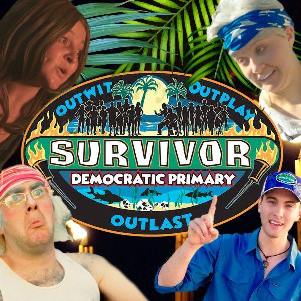 Biden Sanders Kamala Corey Pete Jeff Probst Survivor Democrats